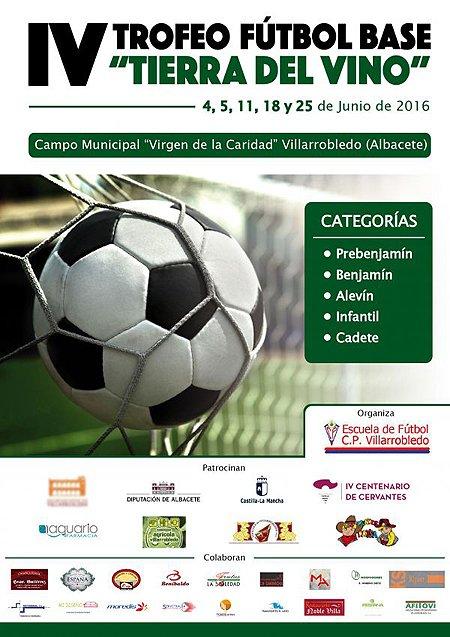 Cartel IV Trofeo de Fútbol Base Tierra del Vino