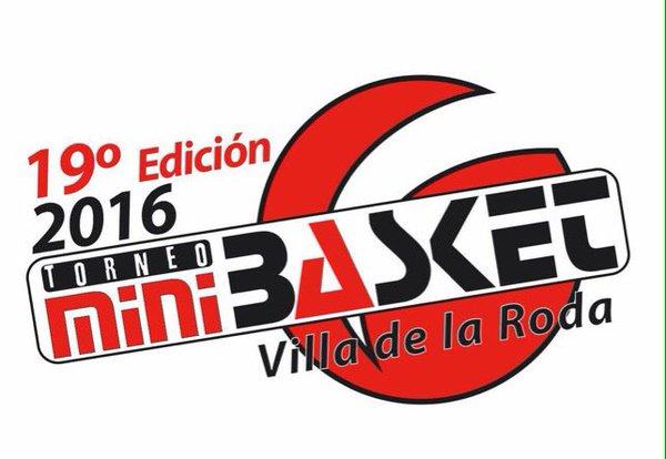 Cartel del XIX Torneo Internacional de Minibasket Marca Villa de La Roda