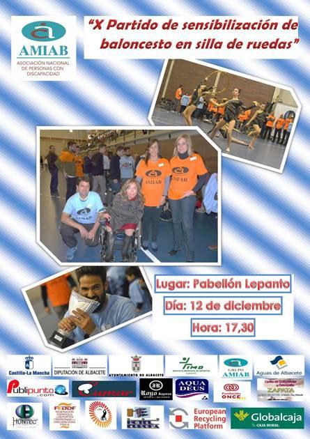 Cartel X Partido de Sensibilización del BSR Amiab Albacete