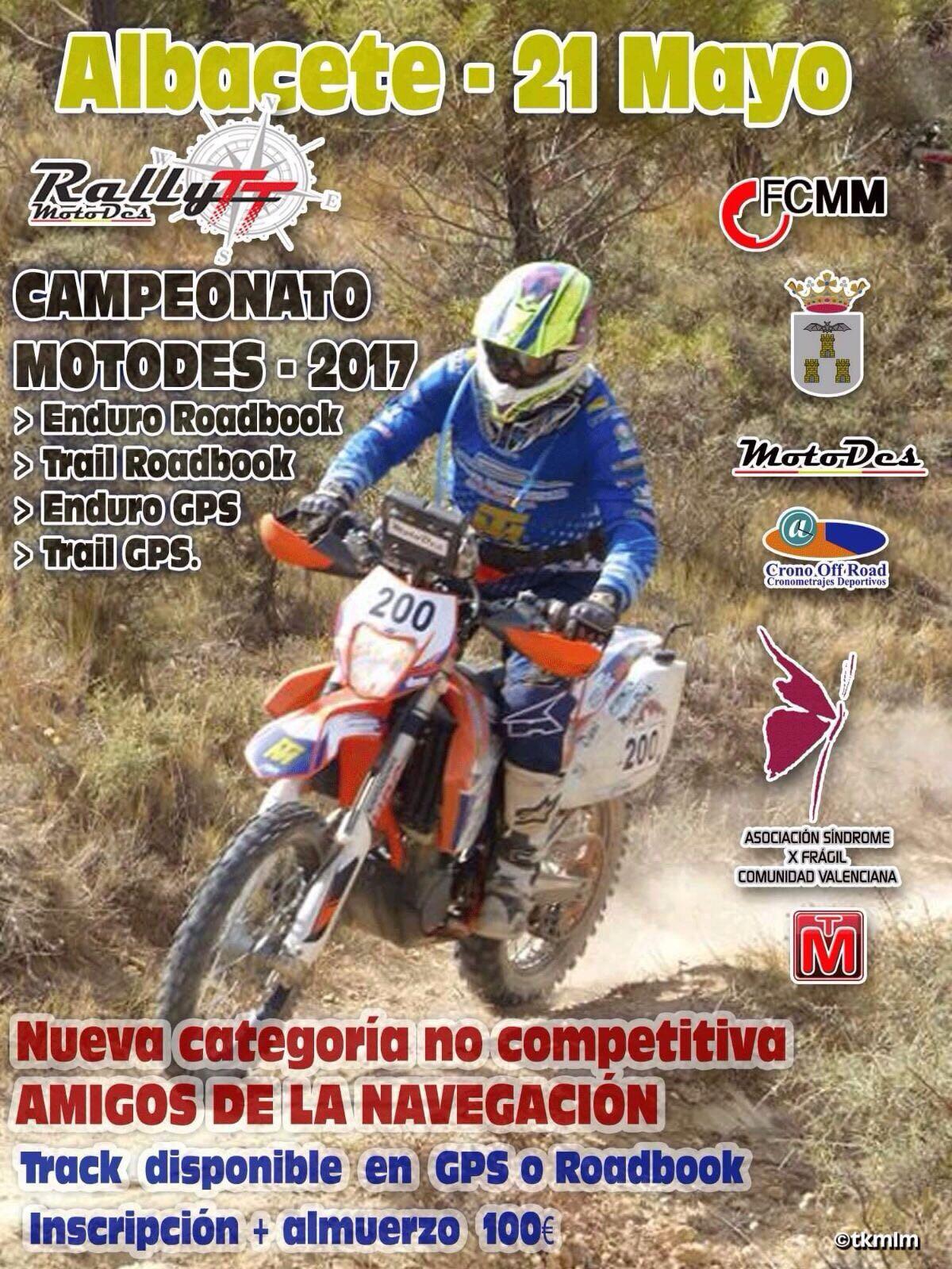 Cartel Rally TT MotoDes Albacete