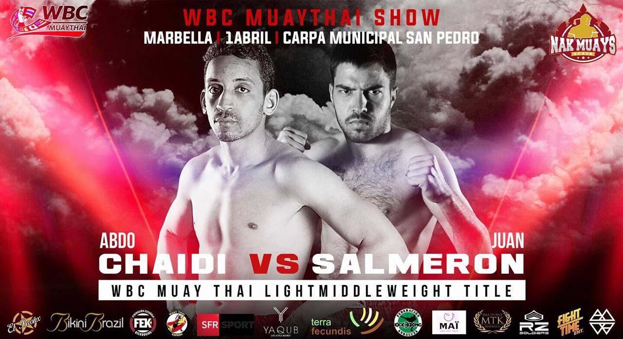 Cartel de la pelea entre Abdo Chaidi y Juan Salmerón