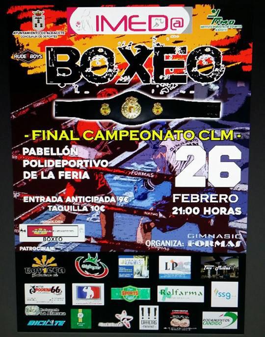 Cartel del Campeonato de Castilla-La Mancha de Boxeo
