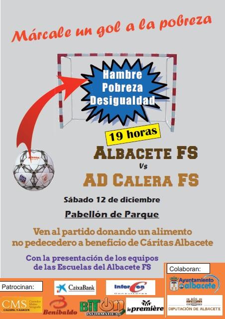 Cartel recogida de alimentos del Albacete FS