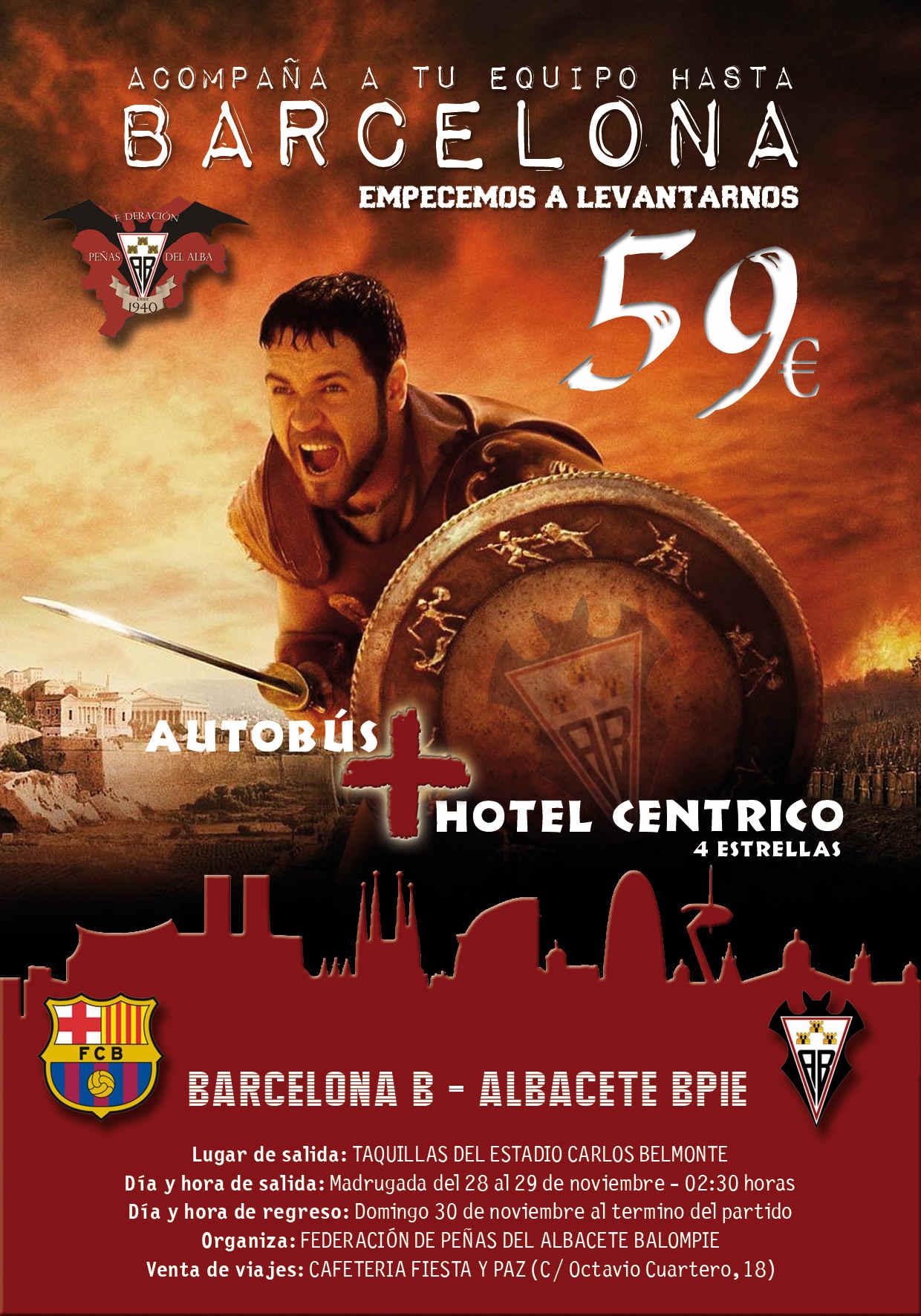Cartel viaje a Barcelona