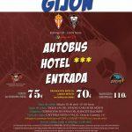 Cartel viaje a Gijón