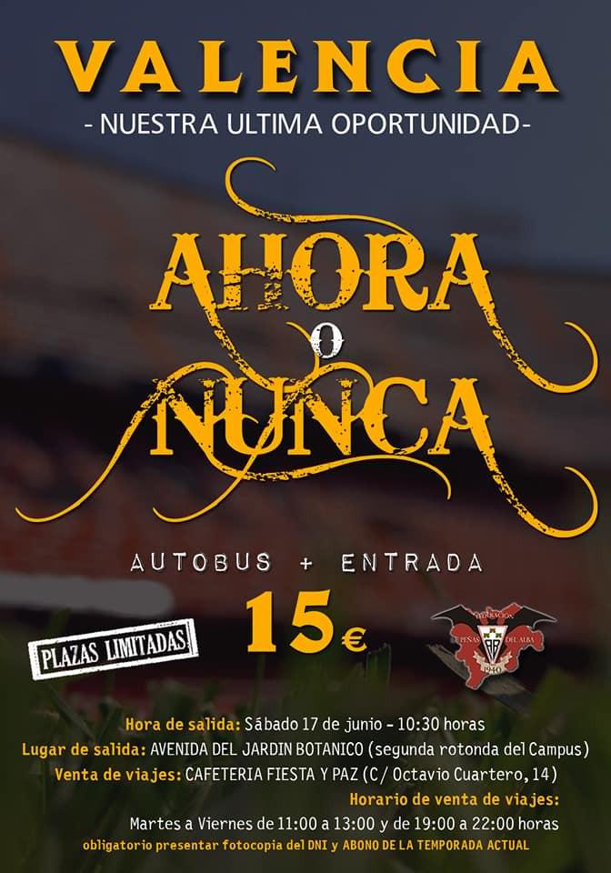 Cartel viaje a Valencia