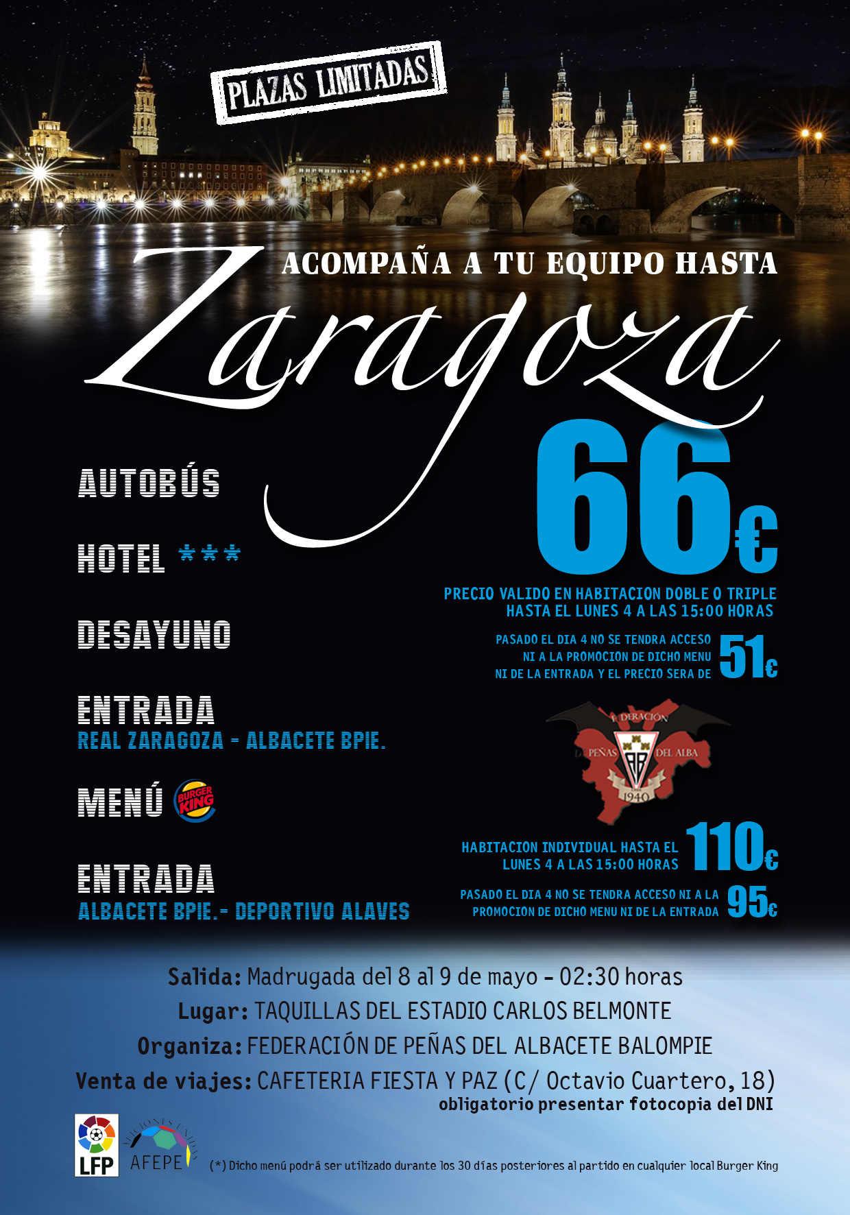Cartel viaje a Zaragoza