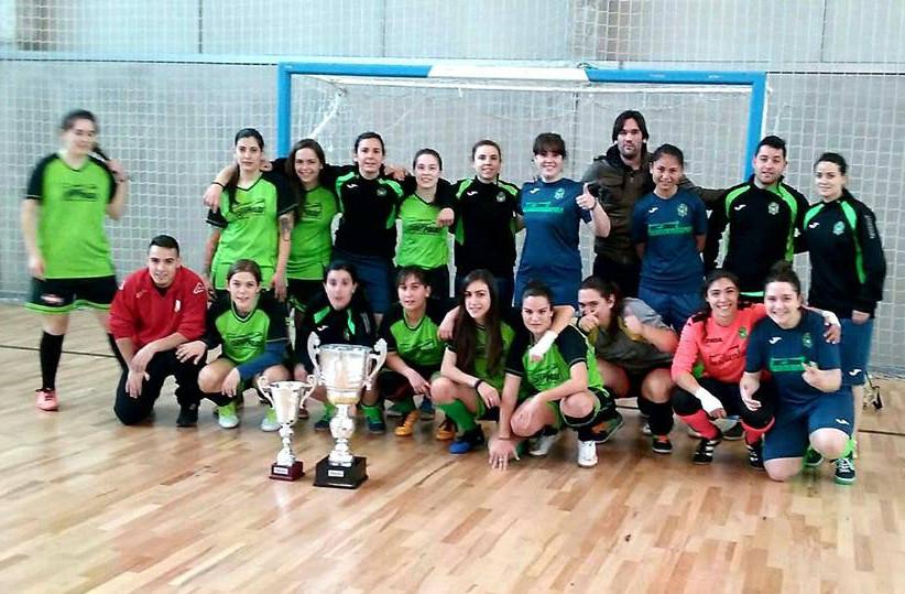 Finalistas de la Copa IMD de Fútbol Sala Femenino