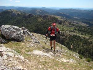 Atleta en la prueba de trail