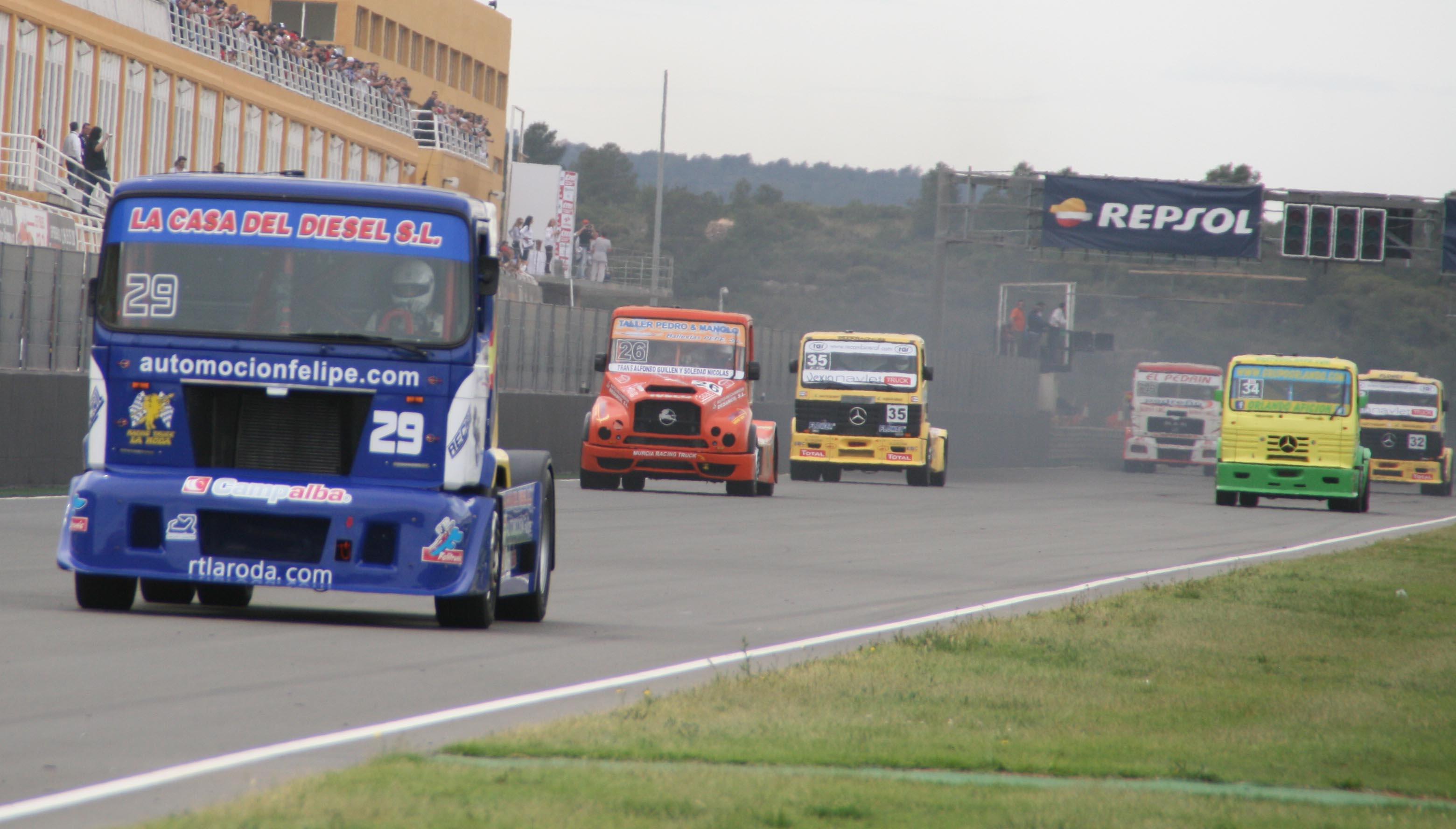 David Felipe en el Europeo de Camiones