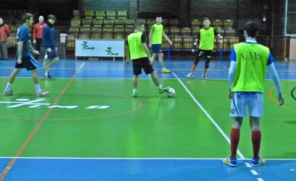 El Albacete FS durante un entrenamiento