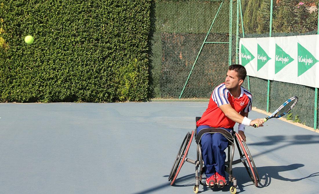 Enrique Siscar en el VIII Trofeo Ciudad de Albacete de Tenis en Silla de Ruedas
