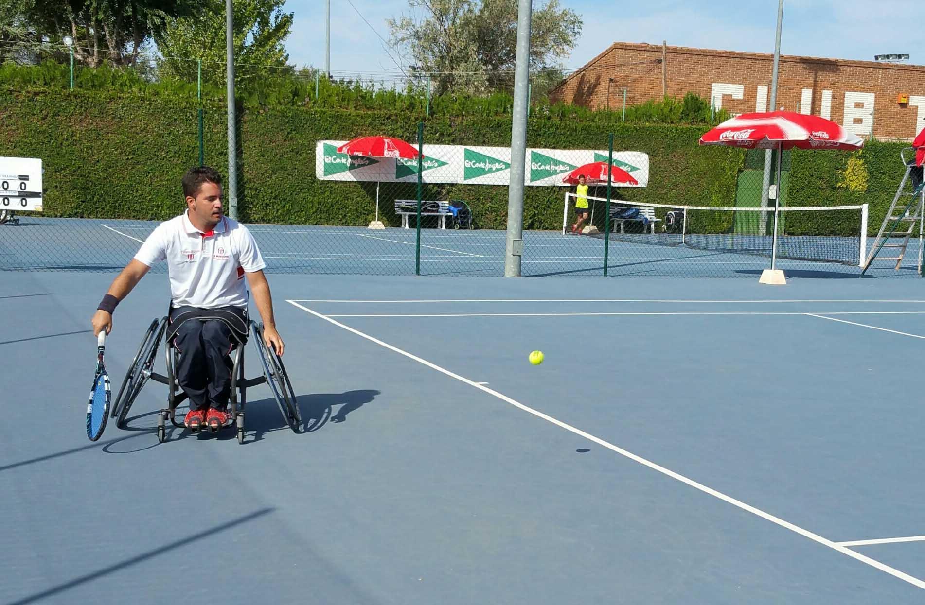 Enrique Siscar en el Trofeo Ciudad de Albacete de Tenis en Silla de Ruedas