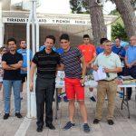 Entrega de premios en la clausura de las escuelas de tenis