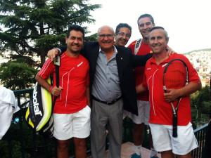 Jugadores albaceteños con Luis Corretja