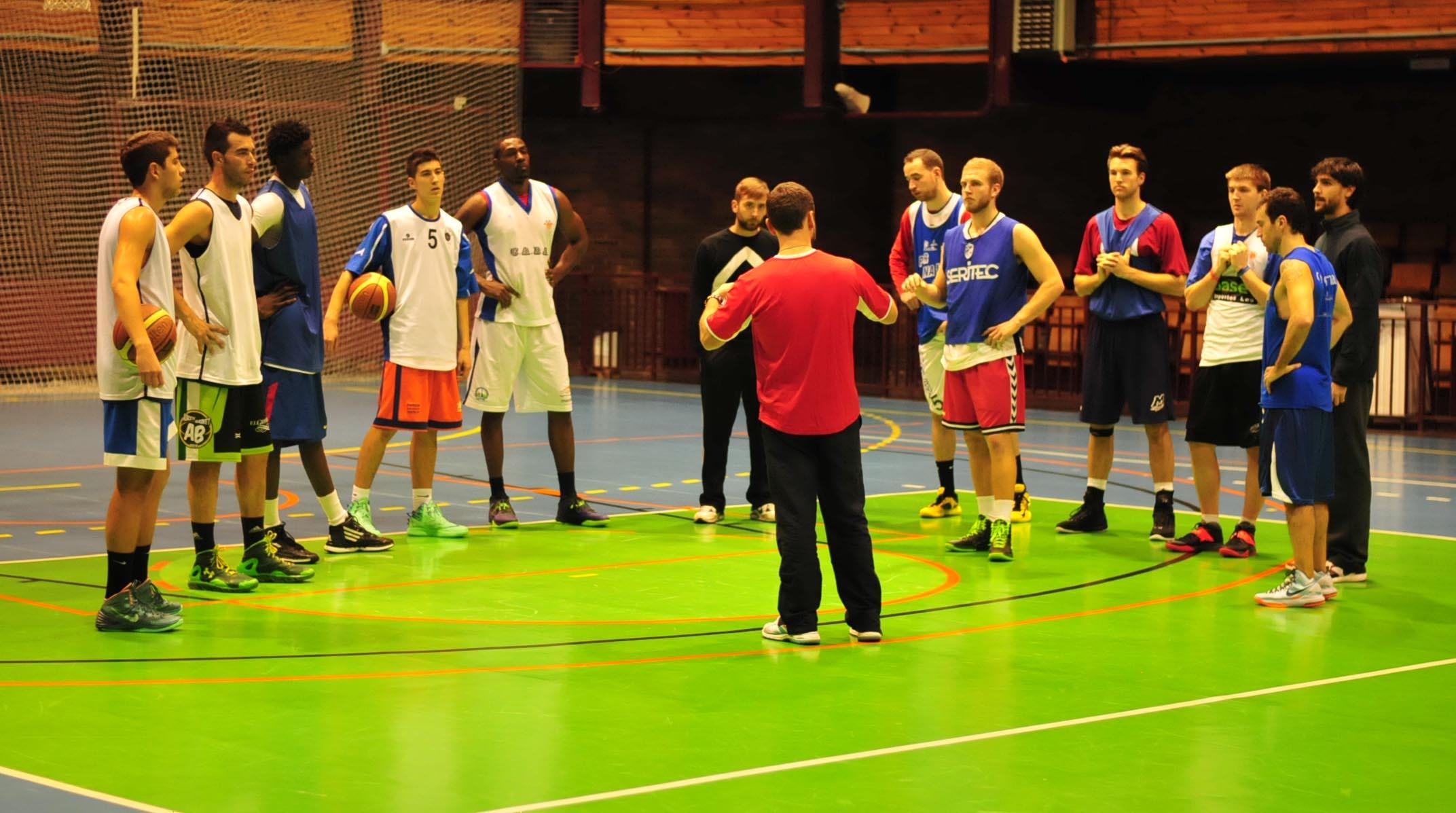 Entrenamiento del Albacete Basket (Foto: Fito Díaz)