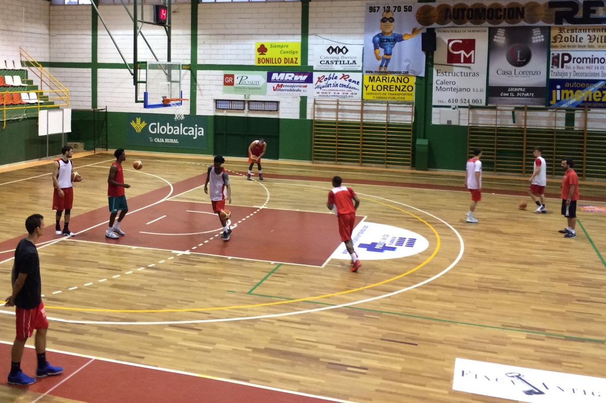Entrenamiento del CB Villarrobledo en septiembre