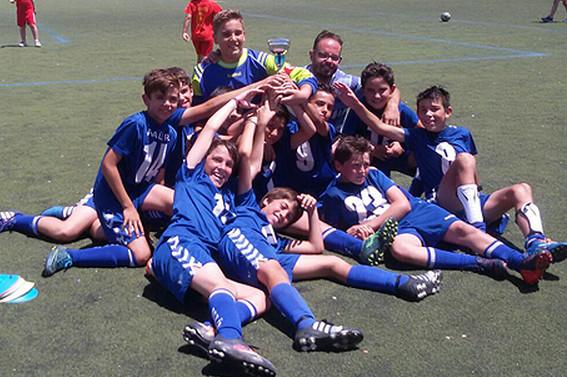 Equipo alevín del CP Villarrobledo
