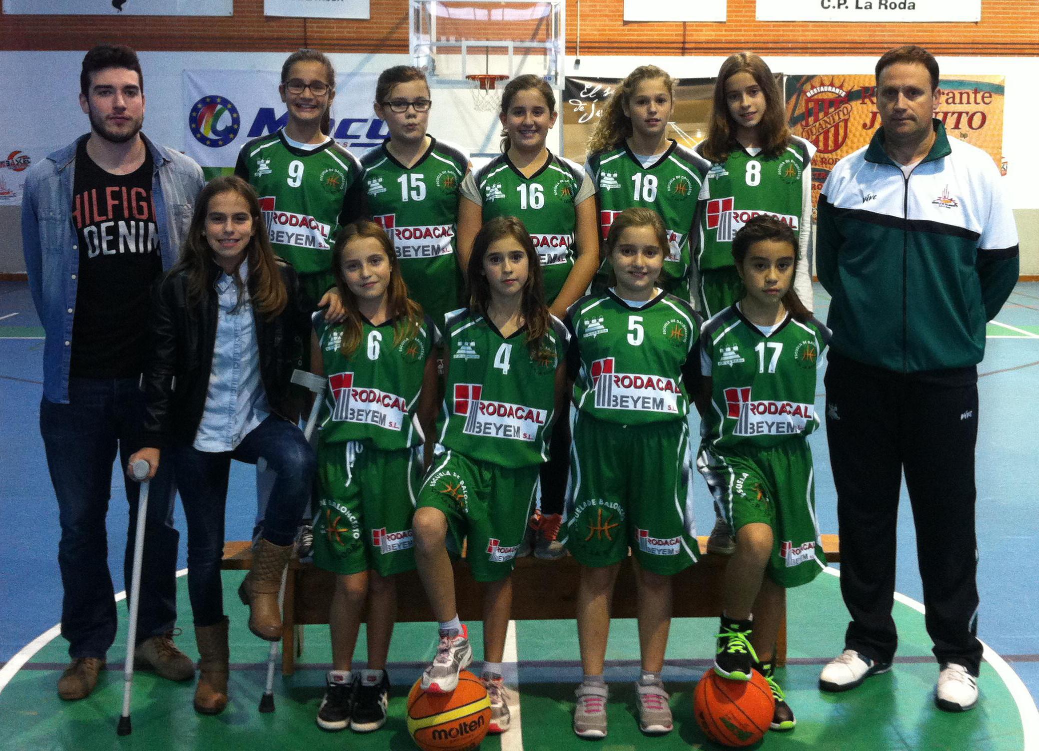 Equipo de Minibasket Rodacal Beyem CP La Roda