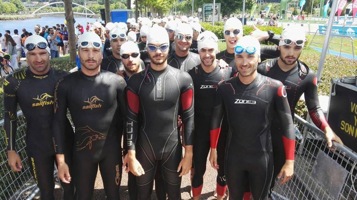 Equipo masculino del Casman Triatlón Albacete en Pontevedra