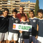 Equipo masculino del Club Tenis Albacete en la presentación del Campeonato de España
