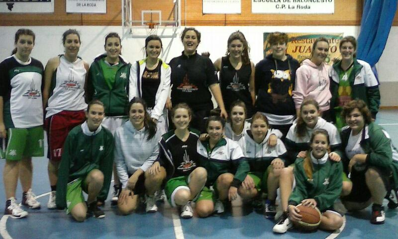 Equipo senior femenino del Baloncesto CP La Roda