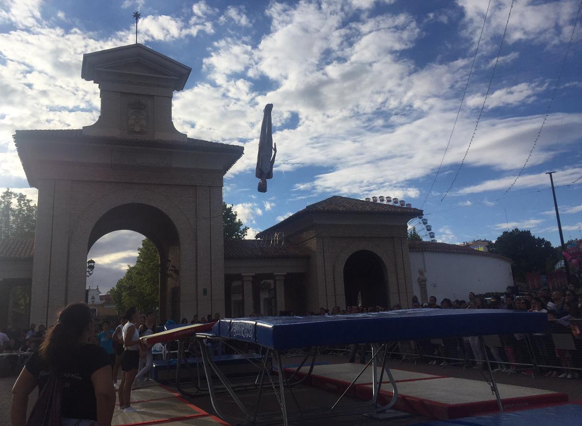 Exhibición de saltos del Club Trampolín Albacete