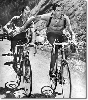 Fausto Coppi y Gino Bartali (Foto: comune.napoli.it)