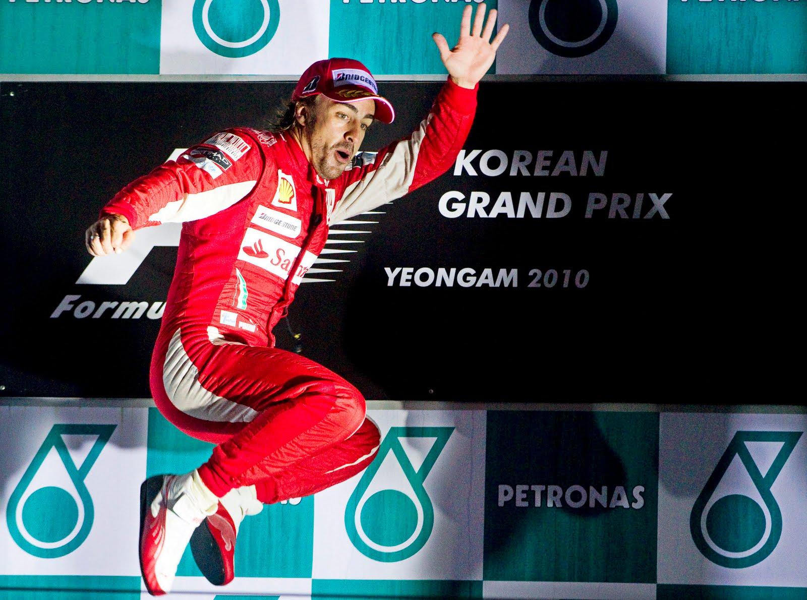 Fernando Alonso Podio