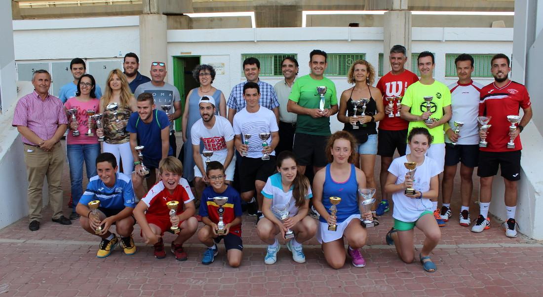 Finalistas del II Torneo de San Juan de Tenis y Pádel