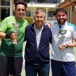 Finalistas en el Campeonato Provincial de Veteranos de Tenis
