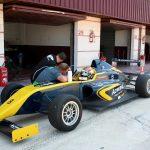 Entrenamiento de los equipos de Fórmula 4 en el Circuito de Albacete