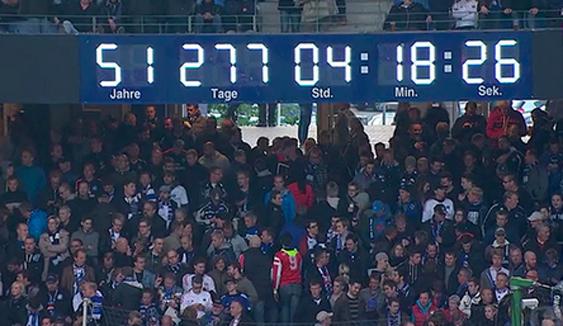 Reloj del Imtech Arena de Hamburgo (Foto Diario Sport)