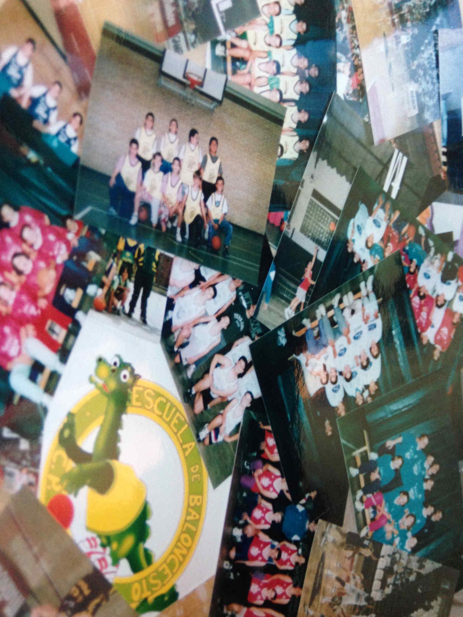 Fotos con historia de la Escuela de Baloncesto CP La Roda
