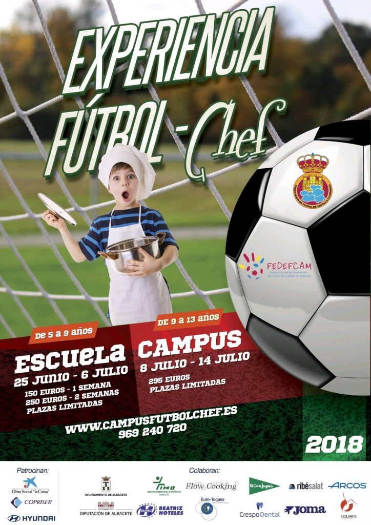 Cartel Campus Experiencia Fútbol Chef 2018