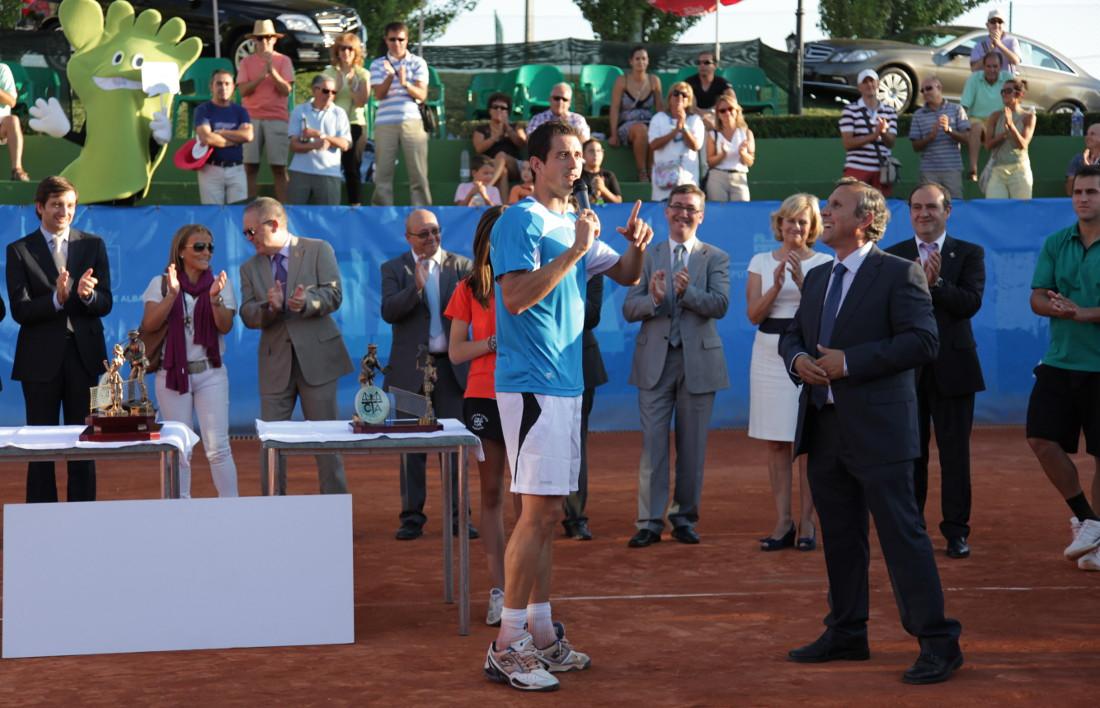 Guillermo García López en el Trofeo Internacional de Tenis Ciudad de Albacete