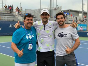 Guillermo García López en el US Open
