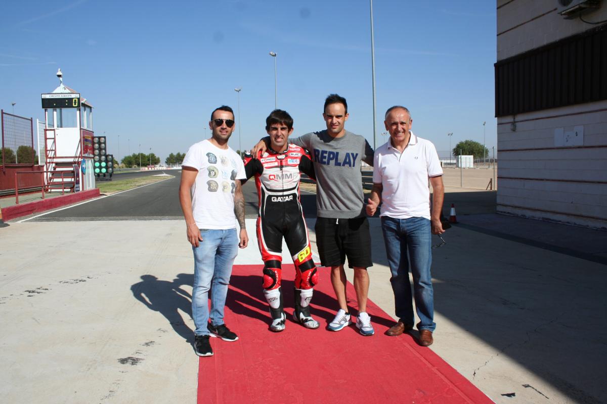 Héctor Barberá, Julián Simón y Xavi Forés, en el Circuito de Albacete