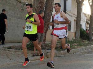 Jesús Ángel Rodríguez y José Agustín Valiente en la IX Carrera Popular de La Gineta (Foto: Florencio García)