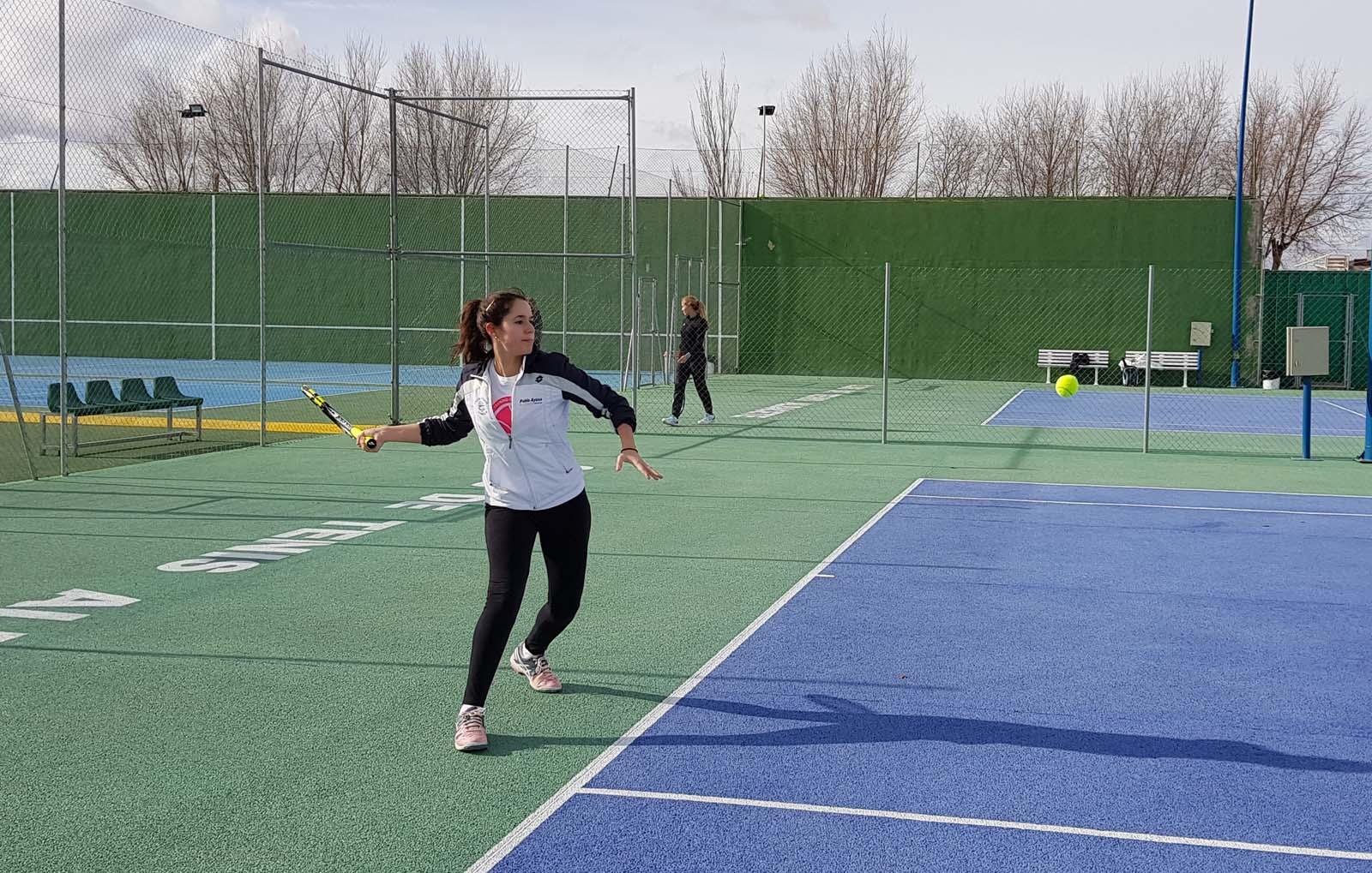 Imagen de un partido del Trofeo de Tenis El Corte Inglés 2017