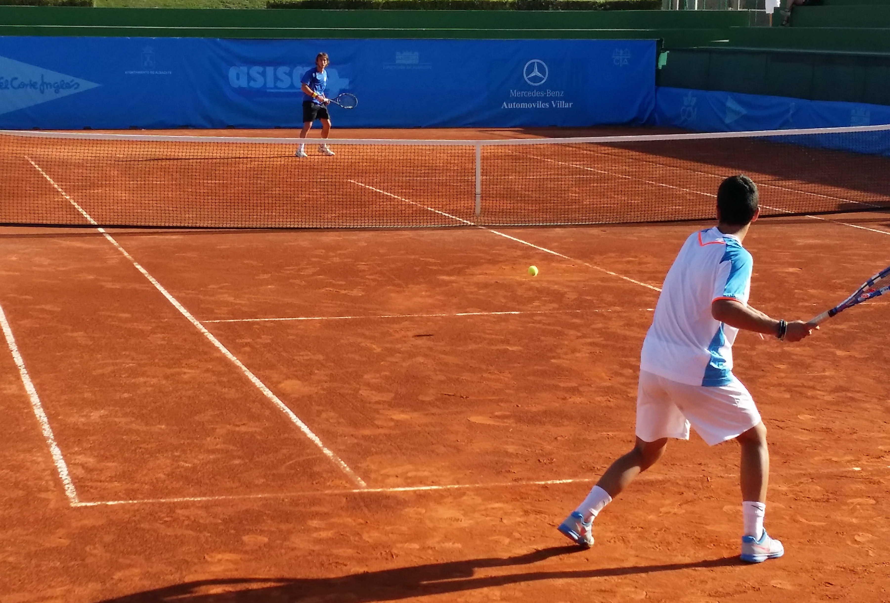 Imagen de un partido disputado en el Trofeo Internacional de Tenis Ciudad de Albacete
