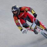 Javi García en la Copa de España de BMX