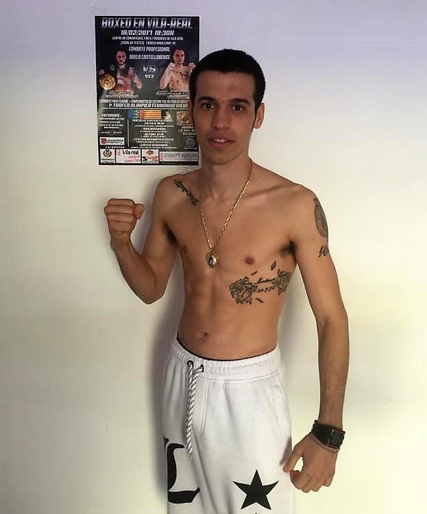 Jordi Martínez durante el pesaje