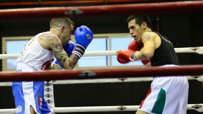 Jordi Martínez durante un combate