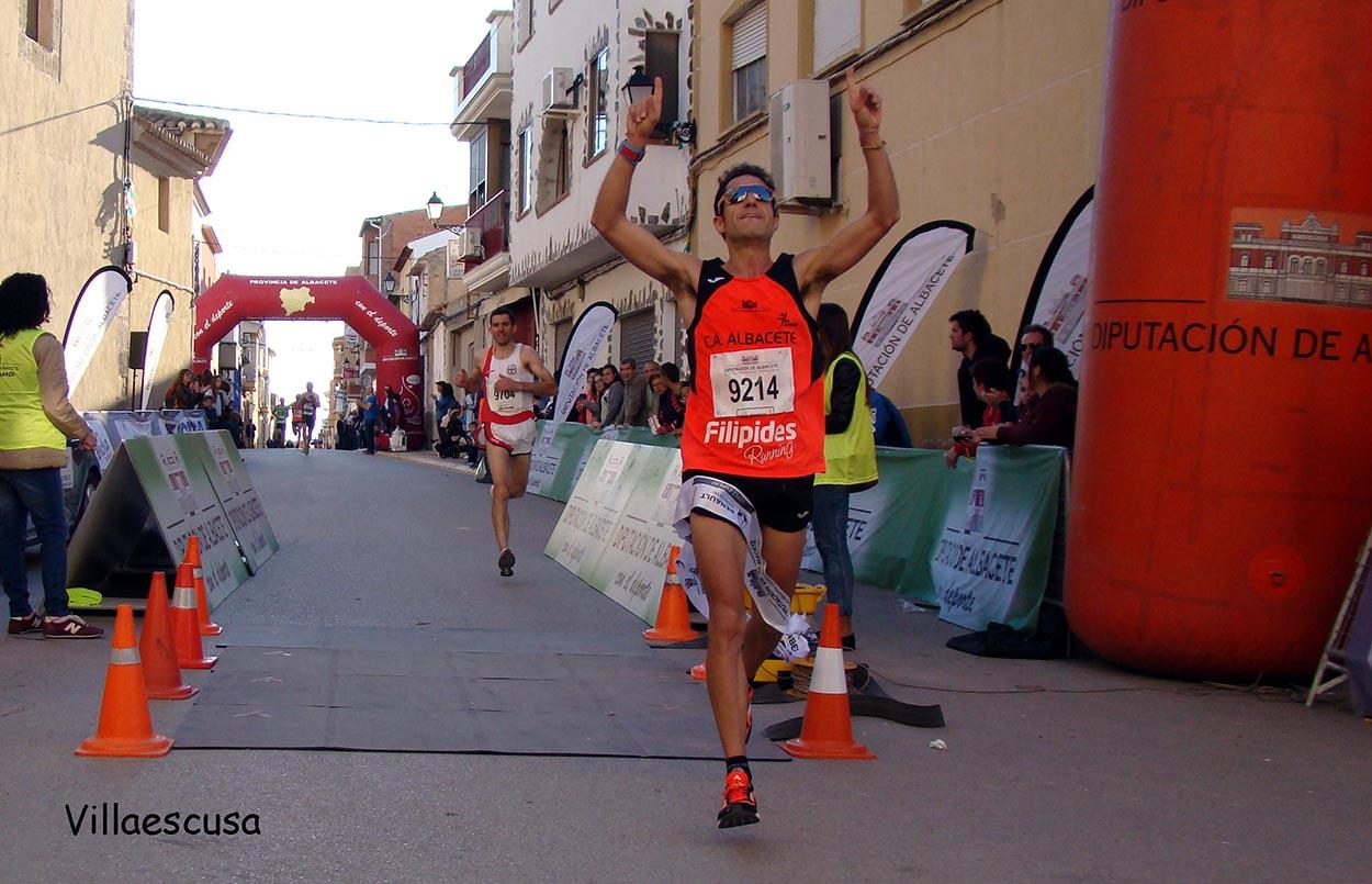 José Miguel Medina, ganador de la IX Carrera Popular de Valdeganga (Foto: Paco Villaescusa)