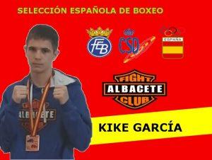 Kike García con la Selección