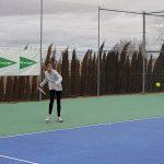 Lucía García en el Trofeo de Navidad de Tenis El Corte Inglés