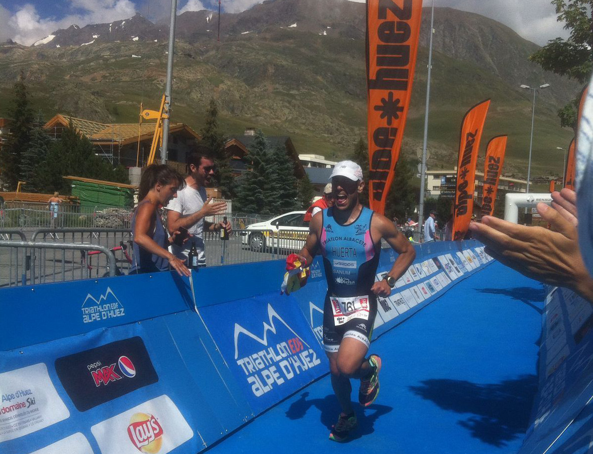 Miguel Ángel Huerta en Alpe D'Huez