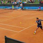 Nico Almagro durante un partido en el Trofeo Internacional de Tenis Ciudad de Albacete