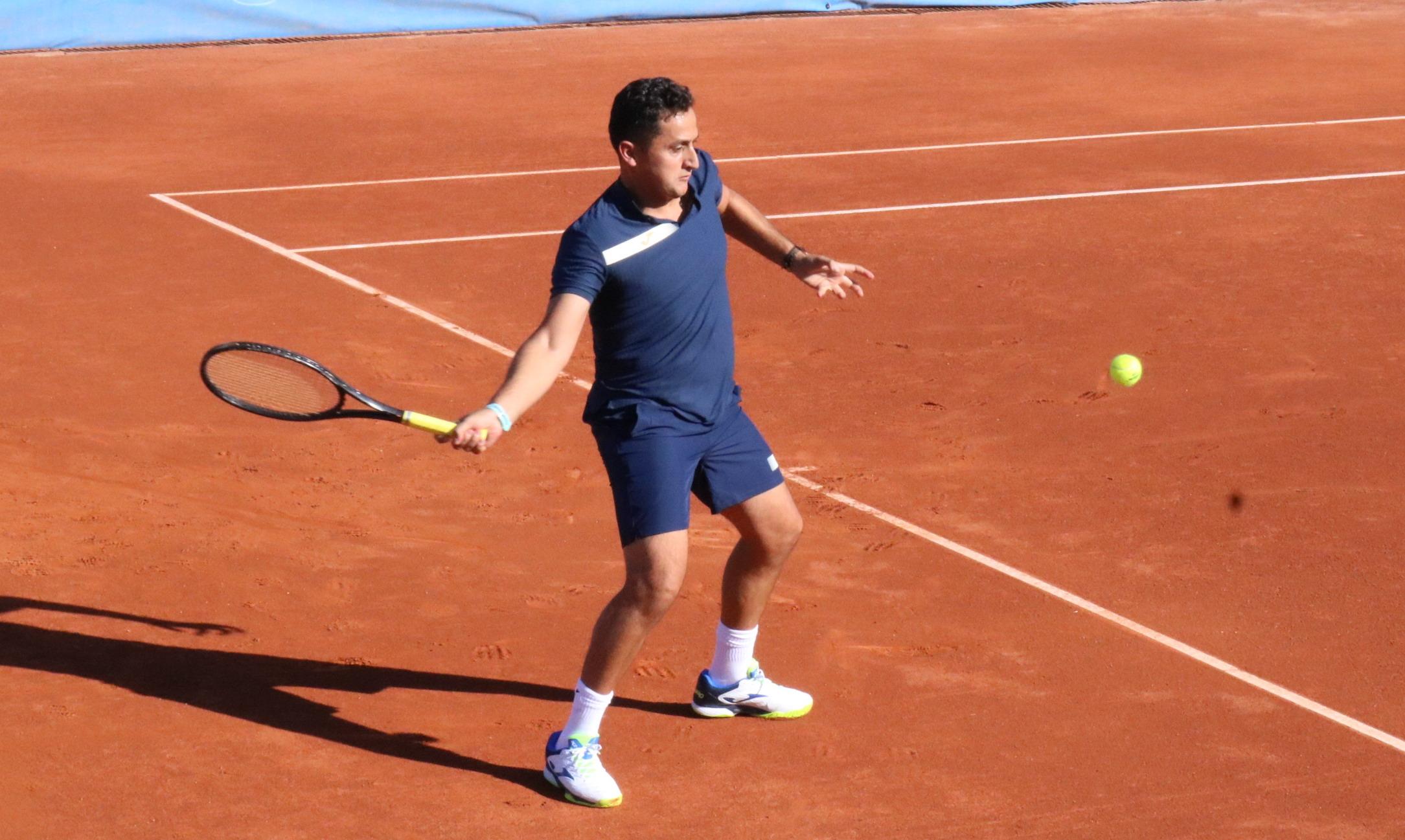 Nico Almagro en el Club Tenis Albacete